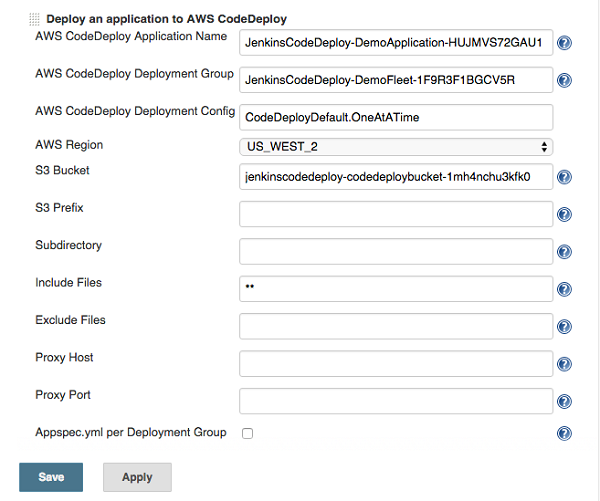Setting Up the Jenkins Plugin for AWS CodeDeploy | AWS