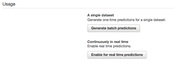 Building a Numeric Regression Model with Amazon Machine