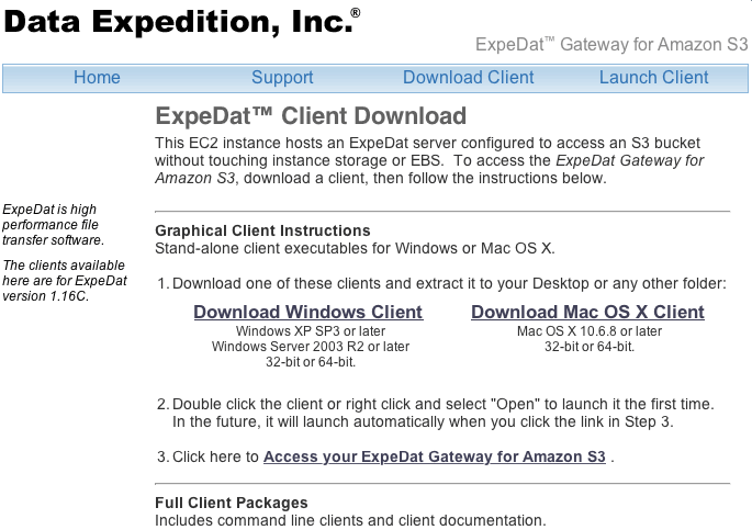 Moving Big Data Into The Cloud With Expedat Gateway For Amazon S3