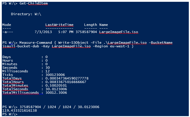 Uploading to a bucket using AWS Windows PowerShell tools