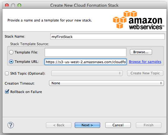 Working with AWS CloudFormation in Eclipse | AWS Developer Blog