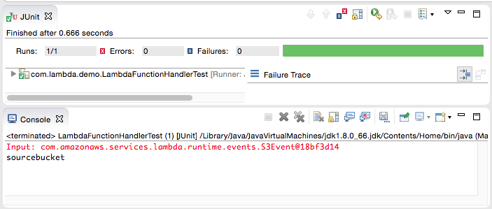 Testing Lambda functions using the AWS Toolkit for Eclipse