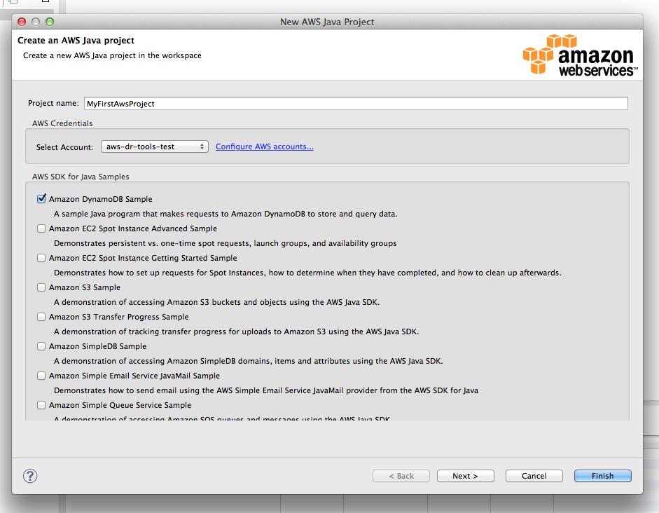 Eclipse: New AWS Java Project Wizard   AWS Developer Blog