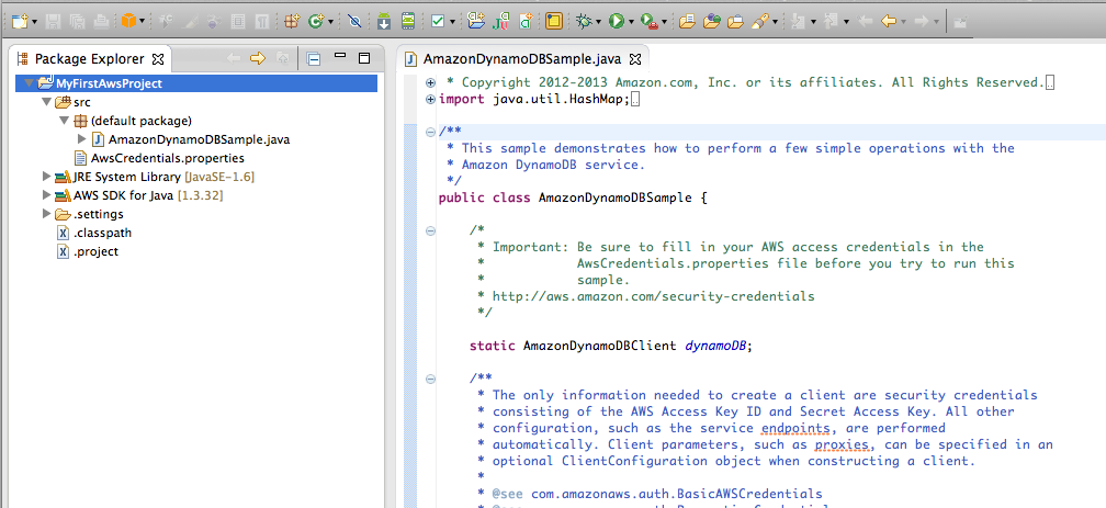 Eclipse: New AWS Java Project Wizard | AWS Developer Blog