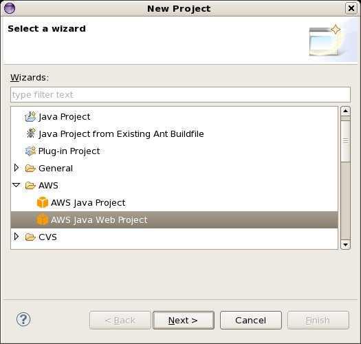 The Eclipse New Project Wizard