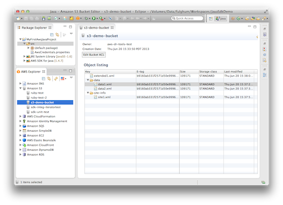 Quick Tips: Managing Amazon S3 Data in Eclipse | AWS