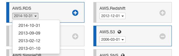 Select API versions
