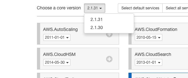 Select a core version