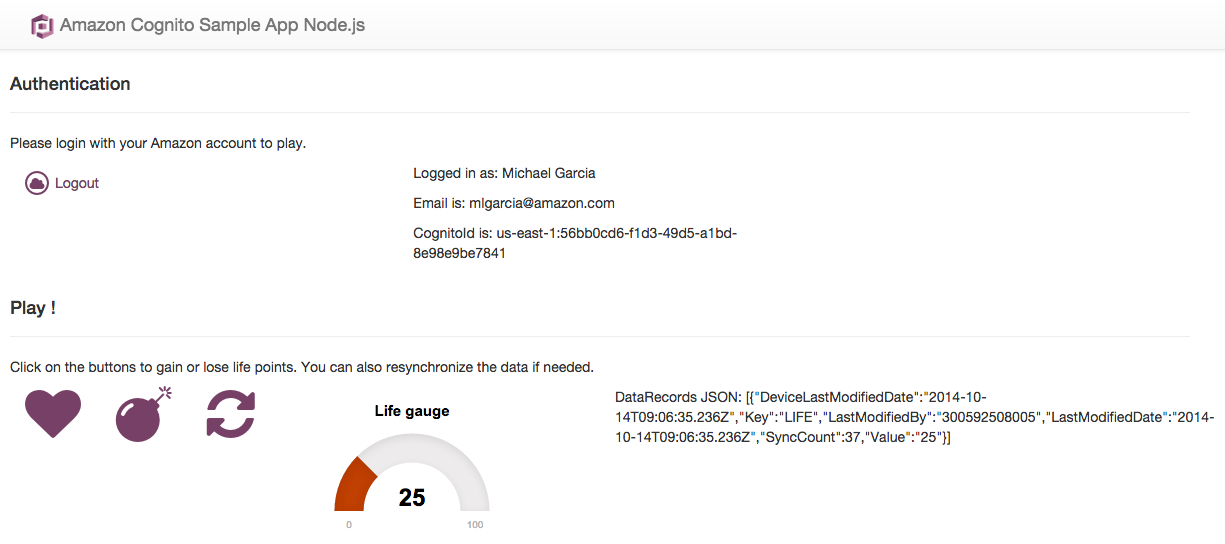Amazon Cognito in your Node js web app | AWS Mobile Blog