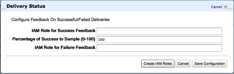 Using the Delivery Status feature of Amazon SNS | AWS Mobile