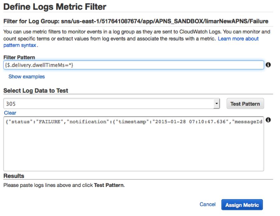 Description: Define Logs Metric Filter