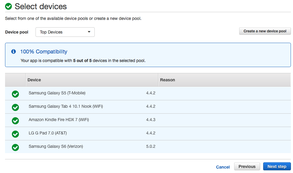 Getting started with Android testing on AWS Device Farm