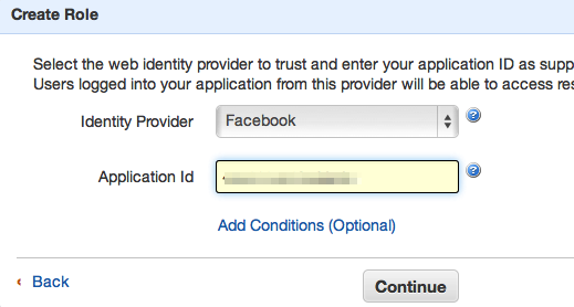 Adding Web Identity Federation with Facebook to iOS Projects