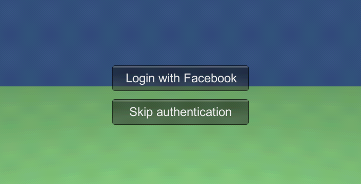 Authentication screen