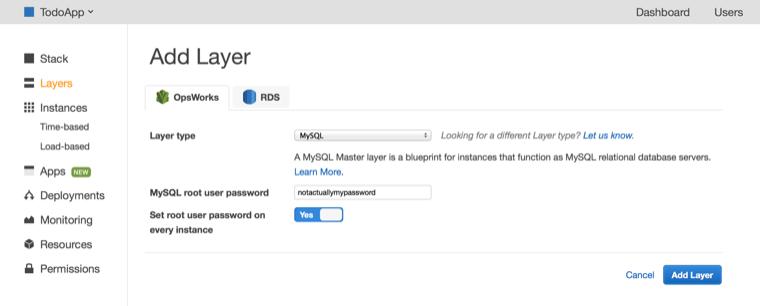 Deploying ruby on rails applications to aws opsworks aws developer add mysql layer malvernweather Choice Image