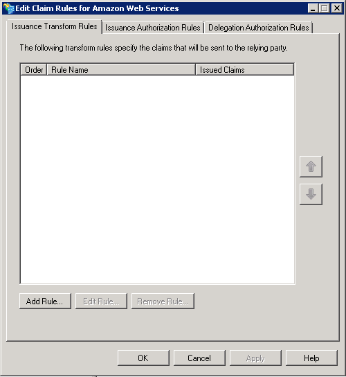 Screenshot showing the Add Rule button