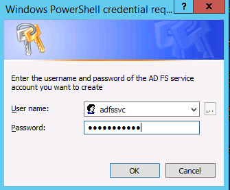 Image of credential request window
