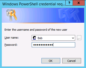 Image of credential request window for user name and password