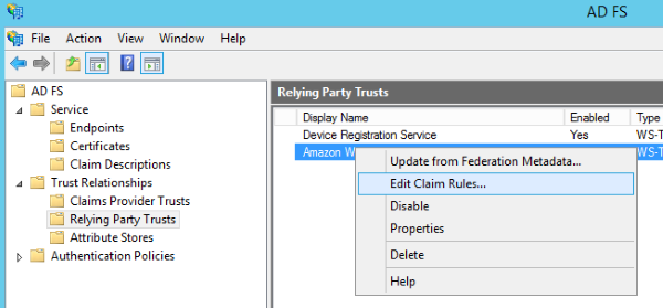 Image of navigating to Edit Claim Rules