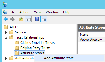 Image of navigating to Add Attribute Store