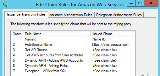 Image of the custom claim rule