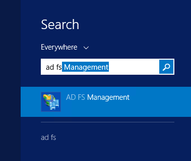 Image of AD FS Microsoft Management Console