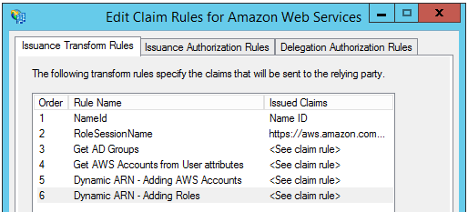 Image of the custom claim rules