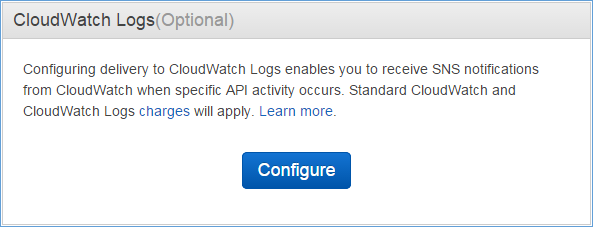 Image of CloudWatch Logs (Optional) box