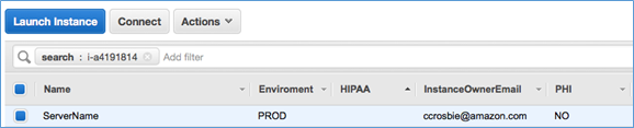 Screenshot of EC2 console showing details about server just created