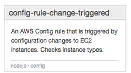 Image of the config-rule-change-triggered predefined blueprint
