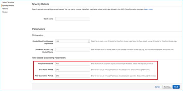 Image of rate-based blacklisting parameters
