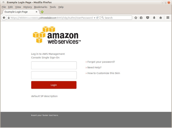Image of the IdP login page