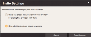 """Image of """"Only administrators can enable new users"""" security setting"""