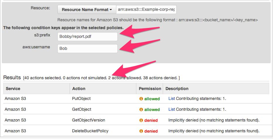 Screenshot showing Bob can access Bobby's reports