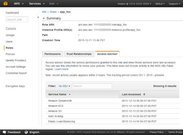 Image of the Access Advisor tab
