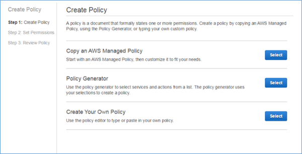 Image of the Create Your Own Policy section