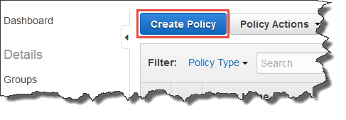 Image of Create Policy button