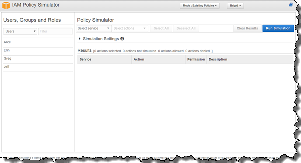 Image of the policy simulator