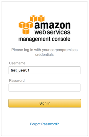 Image of the AWS Management Console sign-in page
